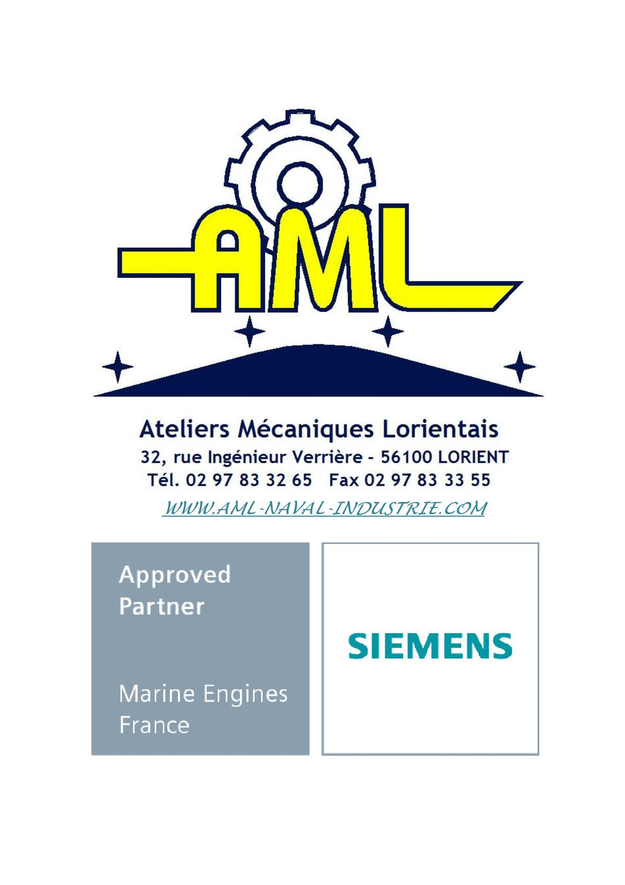 AML SIEMENS Approved Partner Marine Engines France